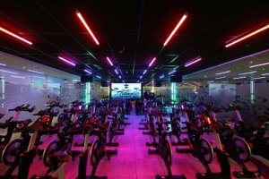 Astera AX1 Pixel Tubes installed at fitness studio in Coogee