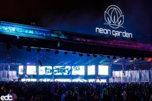 EDC's NeonGarden illuminated by Chauvet