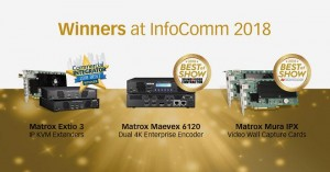 Matrox wins three awards