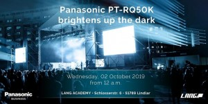 DACH-Launch des Panasonic PT-RQ50K am 2. Oktober 2019 in der Lang Academy